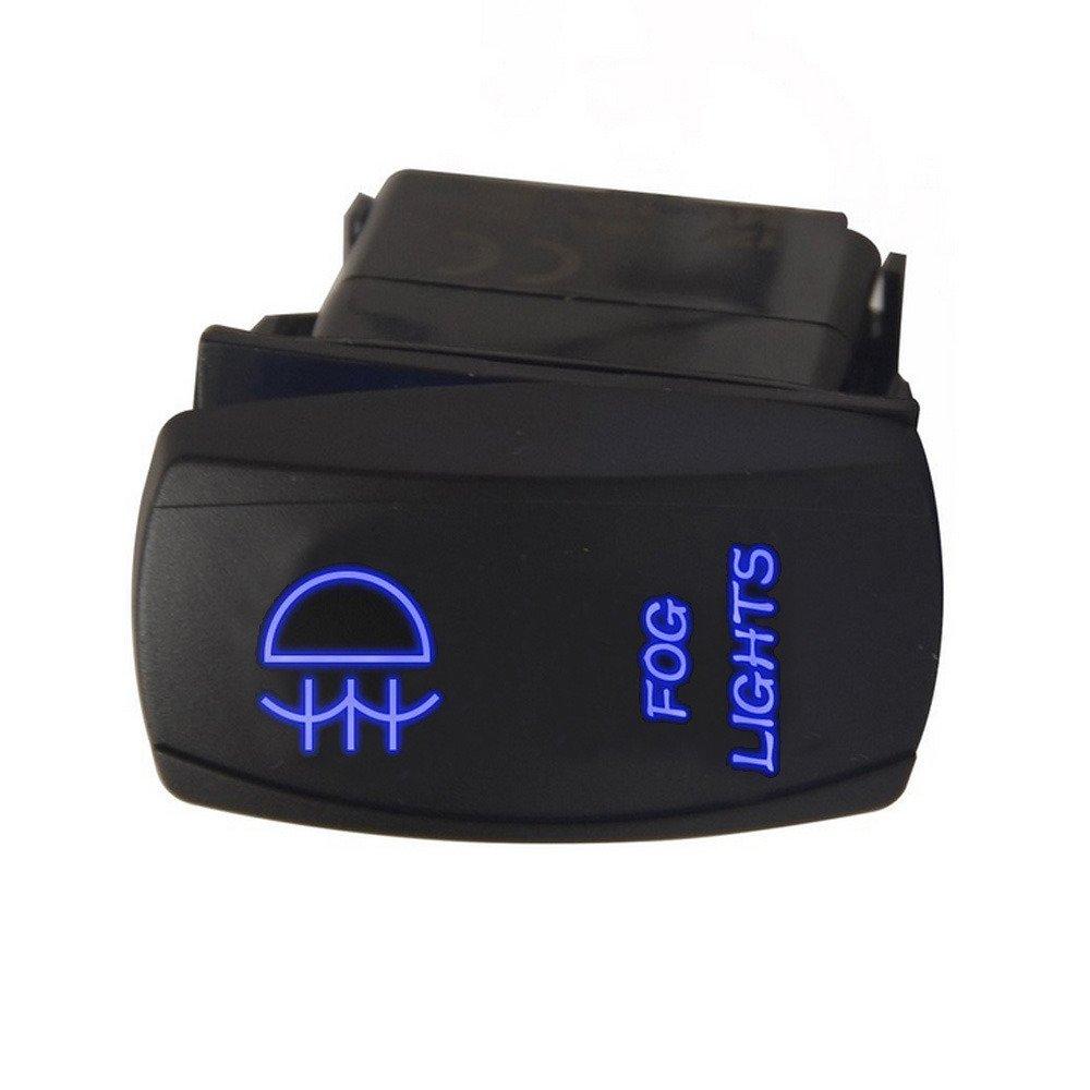 Supmico veicolo auto 12V 20A 24V 10A LED lampada leggera Blu interruttore a bilanciere luce 7Pin Winch light momentaneo