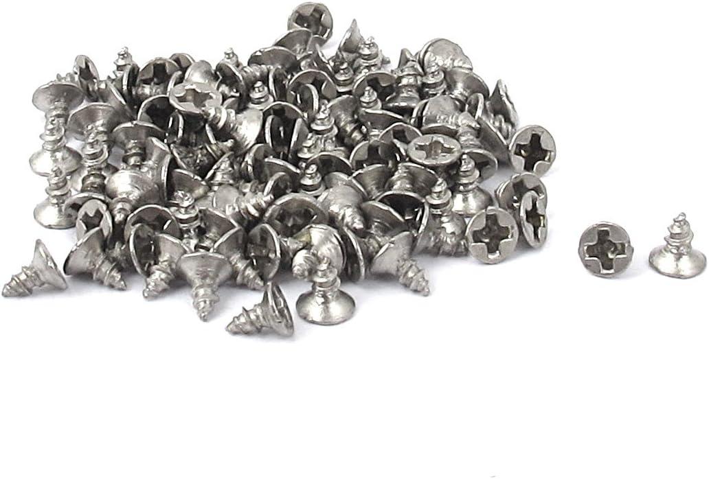 Sourcingmap/® M1,6/x 4/mm Phillips Flat Head selbstschneidenden Schraube gurthalteband 100/PCS de