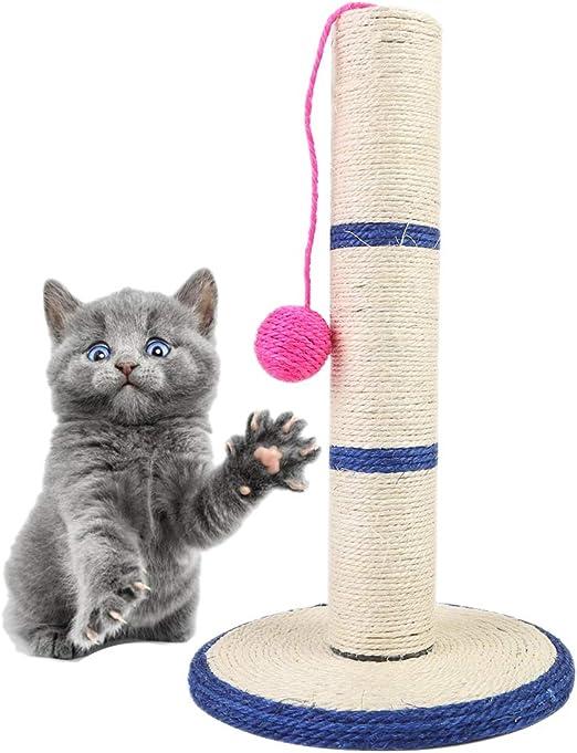 Amakunft Poste rascador para Gatos con Pelota, Juguetes interactivos para Gatos, rascador para Gatos y Gatitos: Amazon.es: Productos para mascotas