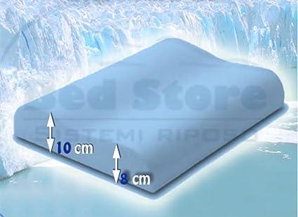 Fresh Memory Foam Cuscino.Bed Store Cuscino Letto Cervicale In Fresh Memory Foam Con Capsule Di Gel Rinfrescanti 1