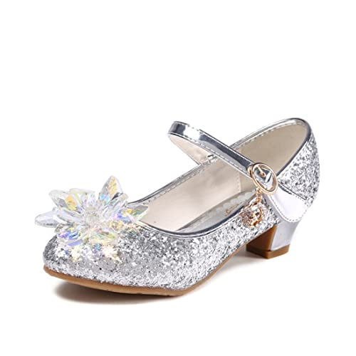 cb7b6f61a14c Yy.f YYF Fille Ballerine a Talon avec Paillettes Deux Genres Belle  Princesse Chaussures