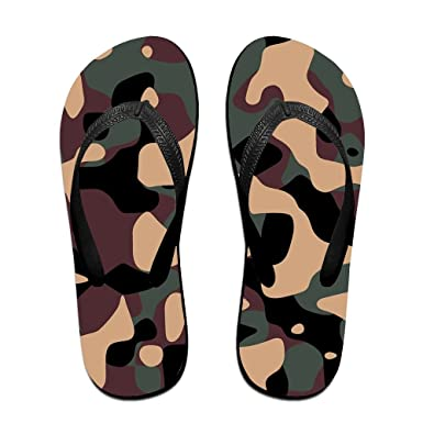 2f34eda28980 Amazon.com  Camouflage Flip Flops Casual Sandals Beach Slipper For Women Men   Clothing