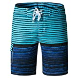 Tailor Pal Love Men's Swimming Trunks with Pockets Breathable Mesh Liner Beach Shorts