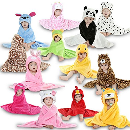 Zoopurr Pets Baby Boys' or Baby Girls' Hooded Animal Blanket; Super Soft, Huggable Plush Hoodie Blanket (Teddy Bear) by ZoopurrPets (Image #4)