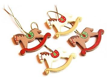 Weihnachtsbaum Spiele.2 Spiele Holz Dekor Anhänger Retro Pferd Schaukel Des Weihnachtsbaum