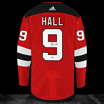 the latest 754d8 8fd3a Taylor Hall Signed Jersey - Adidas Pro - Autographed NHL ...