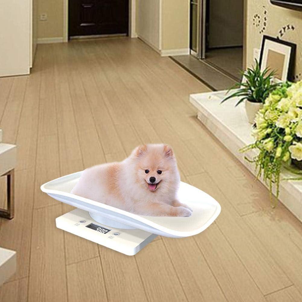 Feunet Escala Digital para Mascotas//Peso Multifuncional con precisi/ón para medir 10 KG Reci/én Nacido Cachorro Perro Gato//Luz de Fondo Azul Escala de Plataforma de precisi/ón en Miniatura port/átil
