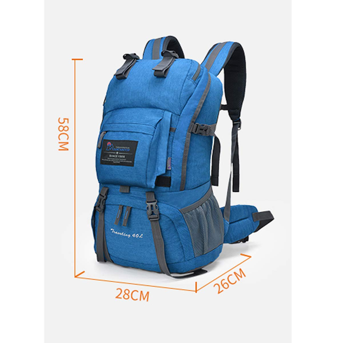 Haoyushangmao Canvas Travel Outdoor Camping Backpack with Rain Cover-40L Latest Models Color : Gray, Size : 40L