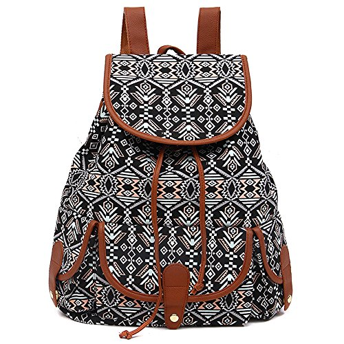- VESNIBA LLC Fashion Bags Canvas Backpack For Women Girls Boys Casual Book Bag Sports Day Pack