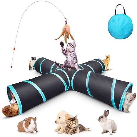 GXL - Túnel de juguete para gatos, plegable y actualizado, 4 formas para mascotas