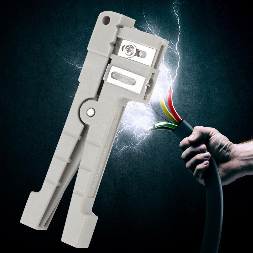 Pelacables de fibra óptica coaxial, herramienta cortadora pela ...