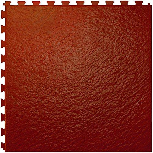 (IncStores Slate Flex Multi-Purpose Hidden Interlocking Textured PVC Floor Tiles 6 Tile Pack Covers 16.67 sqft (Terracotta))