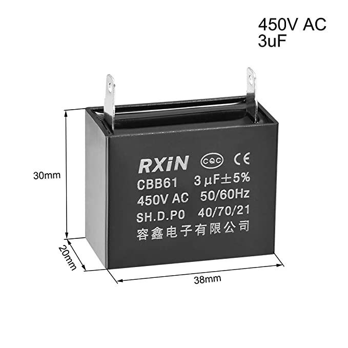 4 Wire Ceiling Fan Capacitor for New Tech CBB61 5uf+5uf 250VAC 50//60Hz Swess