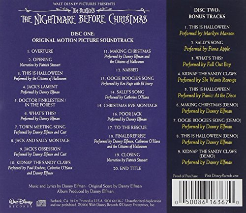 tim burtons nightmare before christmas soundtrack playlist