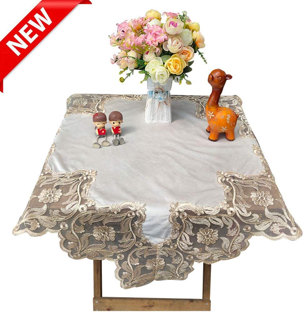 ZYQDRZ American Fabric, Simple Modern Tablecloth Tv Refrigerator Cover Cloth Sofa Towel Round Tablecloth,60x60cm(23.62x23.62in)