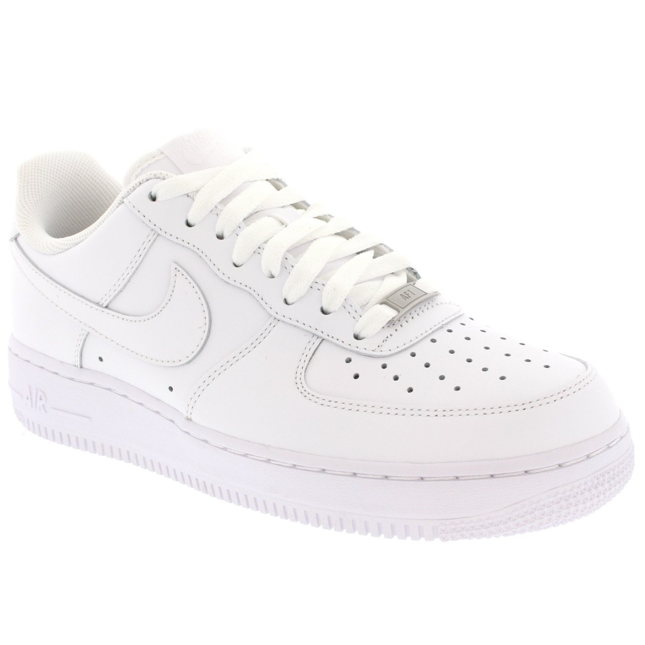 nike nike nike air force 1 07 occasionnel décolletée, dentelle cuir baskets blanches - blanc / Blanc  - 12 515c11