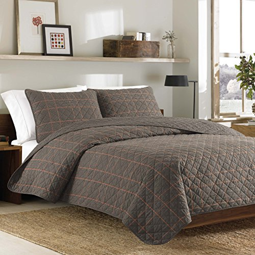 Bauer International Home Accents (Eddie Bauer 216030 Inglewood Cotton Quilt Set, King,)
