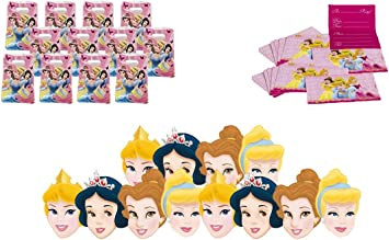 ALMACENESADAN 2437; Pack Fiesta y cumpleaños Disney Princesas; Compuesto por 12 Invitaciones, 12 caretas y 12 Bolsas: Amazon.es: Juguetes y juegos