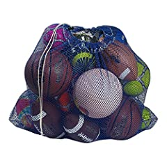 If you're an athlete who has to carry lots of gear of your own, or a parent or coach who has to lug around the team's equipment, our Mesh Equipment Bag in sturdy TA97 polyester will give you a storage option that will keep your equipment orga...