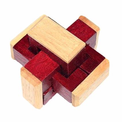 Amazoncom Educational Wooden Burr Puzzle Lotusflower 3d