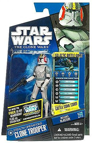 (Star Wars Clone Wars 2010 Series Exclusive Stealth Operations Clone Trooper Figure)
