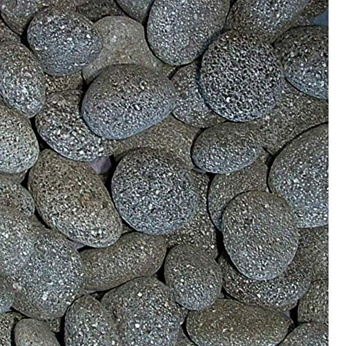 RockStarz 2 Pounds Decorative Stones, Black Lava Beach Pebbles, 32 oz Bag, Indoor or Outdoor Decorative Stones for Craft Projects, Vase Fillers, Succulents, Cactus Pots, Terrarium Plants, Fire Pits