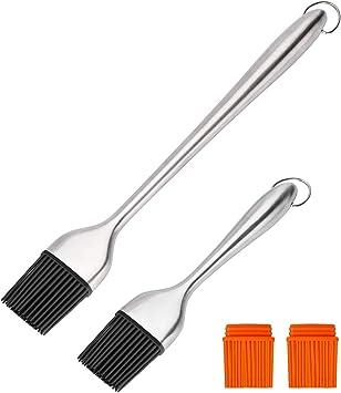 Silicone Pastry Brush /& Scraper Baking BBQ Basting Brush Baking Clear Handle