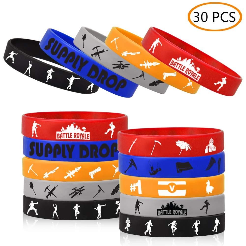 JOHEXI 30pcs Gaming Themed Bracelets Party Favors
