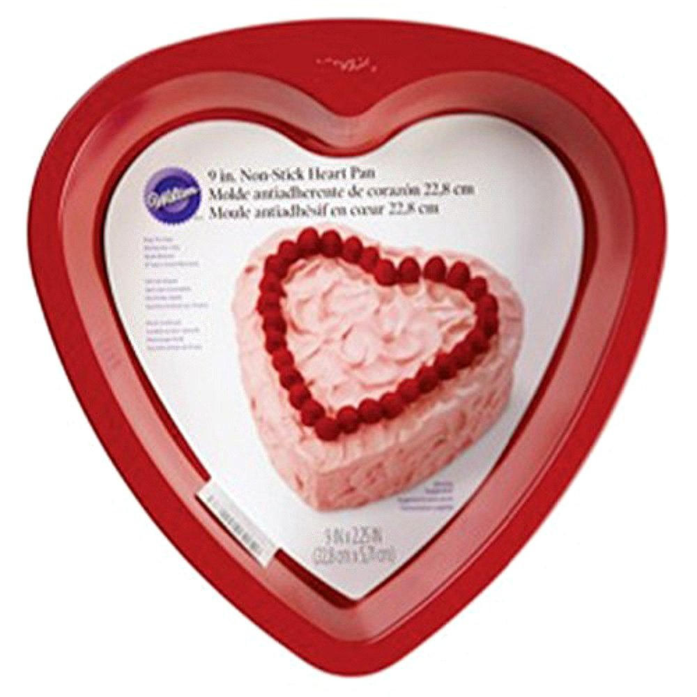 Wilton 2105-5467 Non-Stick Heart Cake Pan, 9-Inch, Red