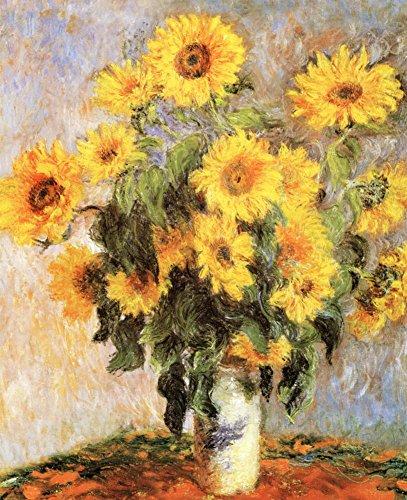 - Claude Monet Sunflowers Art Print POSTER Flower Vase Masterprint Art Poster Print by Claude Monet, 11x14