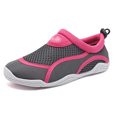 4e6f30aa Image Unavailable. Image not available for. Color: Boys & Girls Water Shoes  Lightweight Comfort Sole Easy Walking Athletic Slip on Aqua Sock(