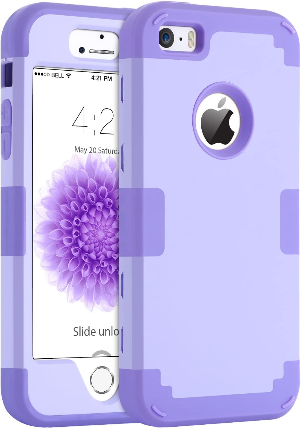 iPhone 5S Case iPhone SE iPhone 5 Case BENTOBEN Shockproof Protective Case for iPhone SE 5S 5 Purple
