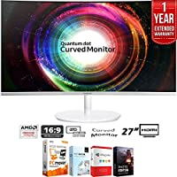 """Samsung LC27H711QENXZA CH711 Series Curved 27"""" QHD Monitor 2560x1440 (2017 Model) + Elite Suite 18 Standard Editing Software Bundle + 1 Year Extended Warranty"""