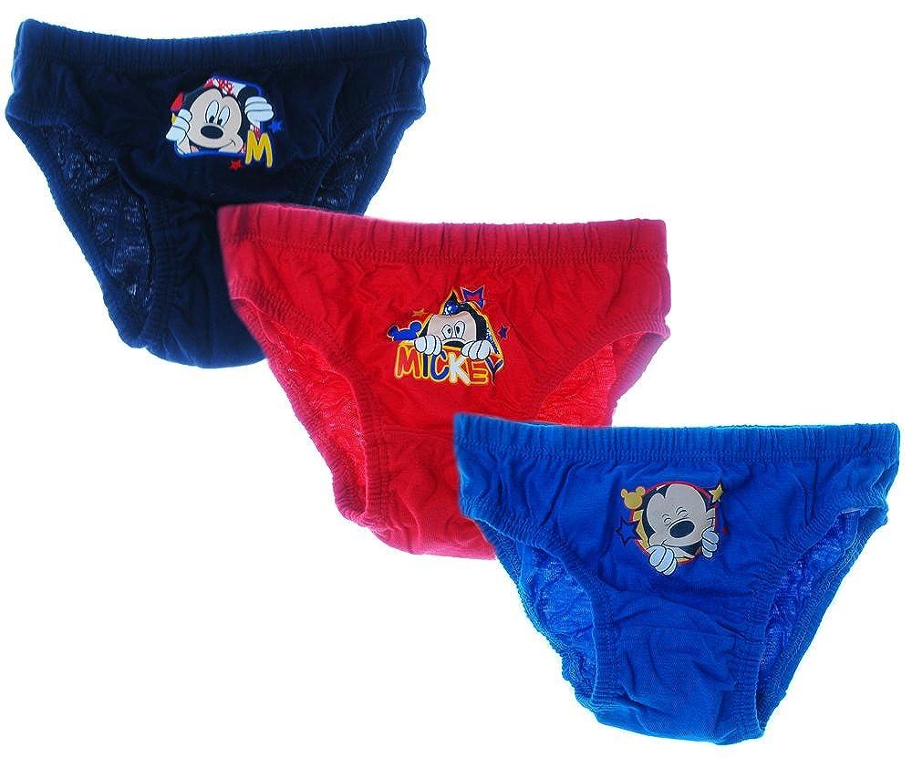 Original von Disney Kinder Unterhose Slips Mickey Mouse 3er Set 80-110 H/öschen