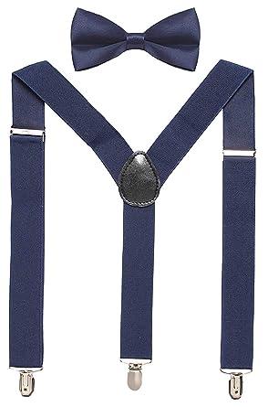 e8df0c90aeea Sorella'z Boys Elastic Navy Blue Suspender with Bowtie: 2-6 Year Age ...