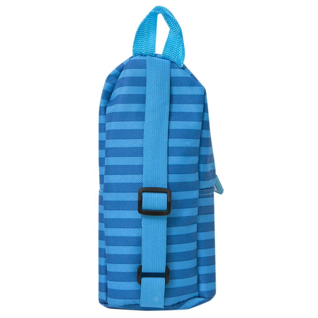 Yoobi Mini Backpack Pencil Case (Blue Stripe)