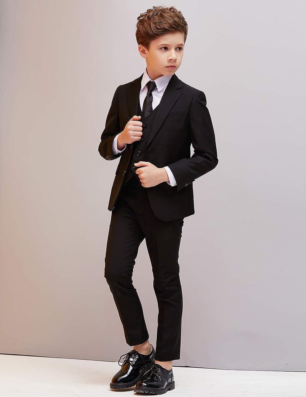ELPA ELPA Boys Suits for Wedding Slim Fit Formal Suit Tuxedo