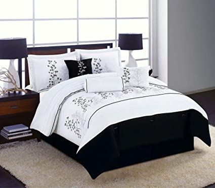 Amazon Com Legacy Decor 7pc King Size Bedding Comforter Set Black