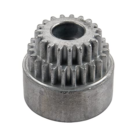 SkyQ 02023 Campana de embrague doble Gears 19T + 24T para RC HSP 1/10