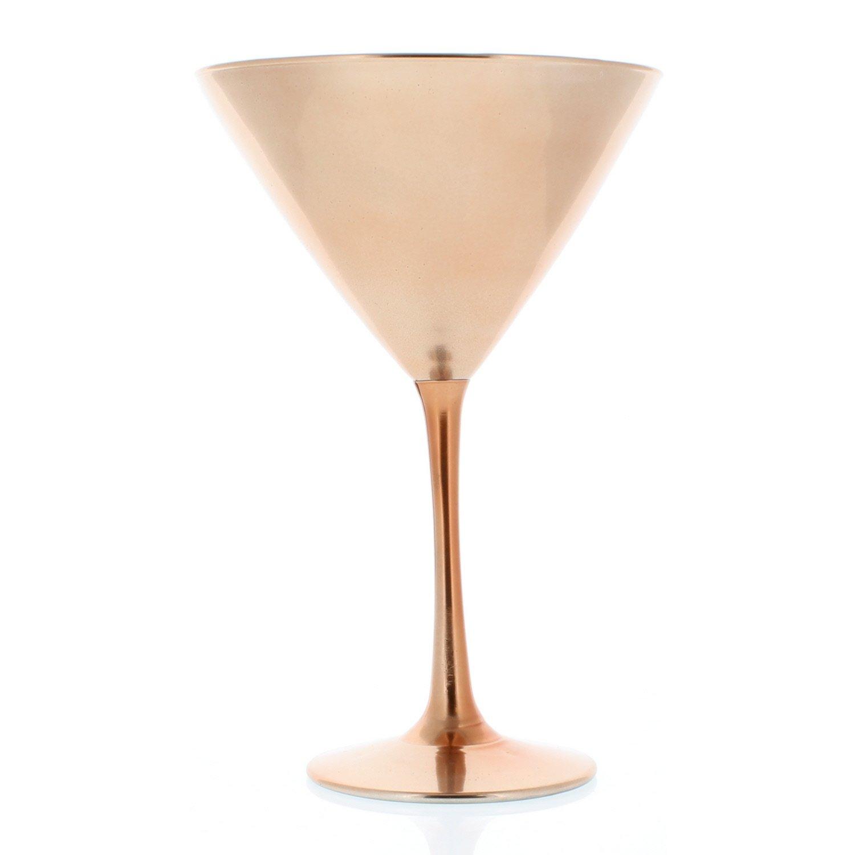 Libbey Copper Midtwon Martini Glasses, 12 oz, Set of 12