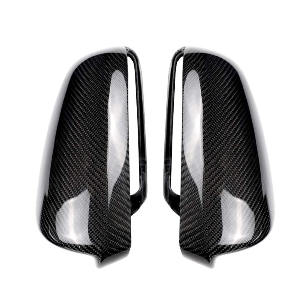 Replacement for A3 A4 A5 B7 A6 C7 2005-2012 1 Pair Car Side Door View Mirror Cover Carbon Fiber Trim Caps Housing