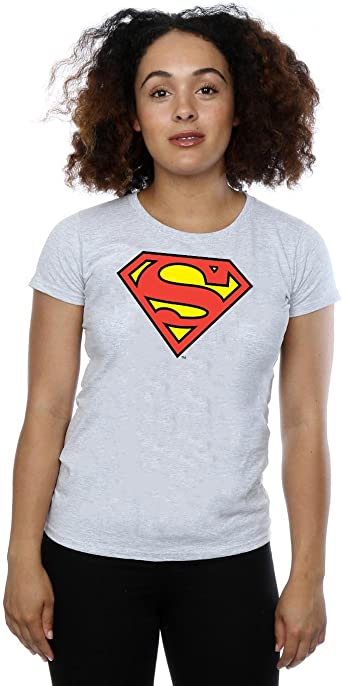 Womens Fitted Superman Logo T-Shirt