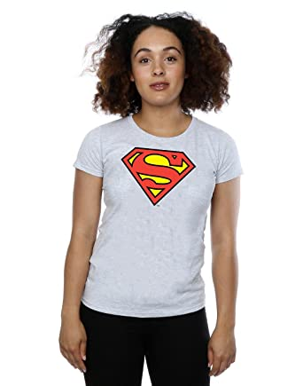 5afaf4fbf DC Comics Women's Superman Logo Crew Neck Short Sleeve T-Shirt ...