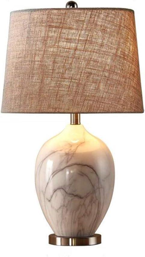 YWAWJ Lámpara de Mesa Lámpara de Mesa de cerámica Redonda de ...