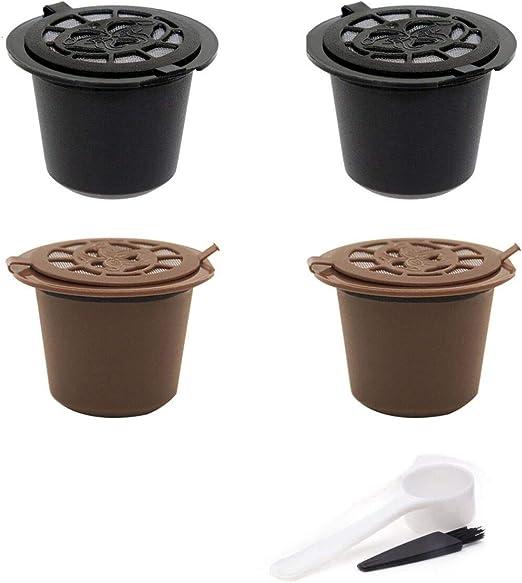 SIMUER Compatible con cafetera Nespresso Cápsulas Marrón 4 Filtros ...