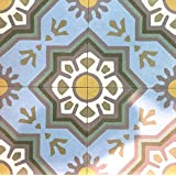 Green Envy Blue 8x8 Honed Finish Cement Tile Floor
