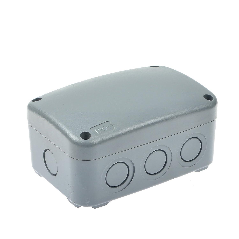 Nineleaf ABS Plastic Dustproof Waterproof IP66 Junction Box Universal Electrical Project Enclosure White 125x86x62mm 53 3 82 7 16 HO 038