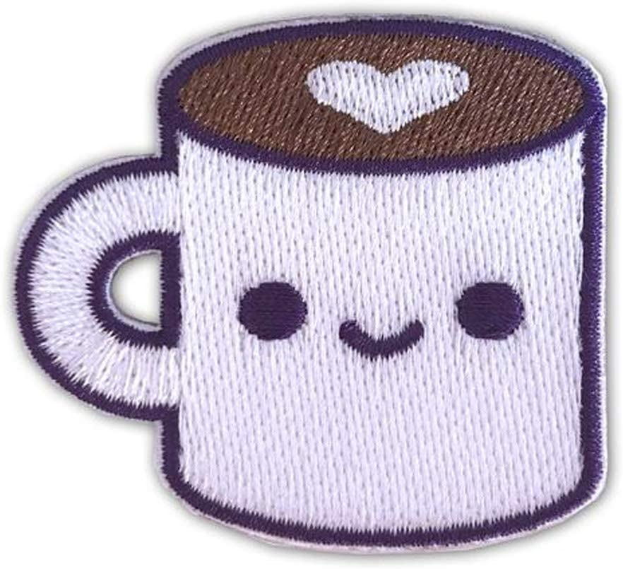 COFFEE LUV STICKER STICKY ADHESIVE BACKING PATCH BY 100/% SOFT