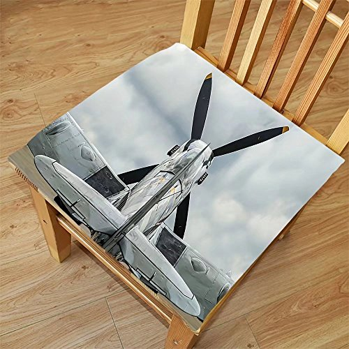 Nalahome Set of 2 Waterproof Cozy Seat Protector Cushion Airplane Decor Collection Supermarine Spitfire Mk. XVI Battle Birds British Exhibition Museum Guns Weapon Picture Grey Printing Size - Spitfire Design Sunglasses