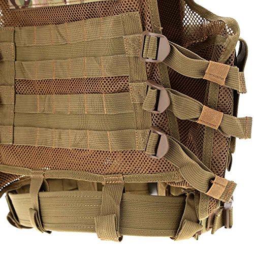 Lixada Armée Tactique Vest extérieure CS Champ Swat air de Jeu de Guerre Cosplay de Counter Strike Jeu Chasse Camping… 4
